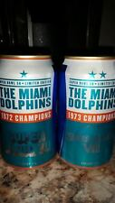 Bud Light NFL  Miami Dolphins  BOTH super bowl cans  Free Shipping