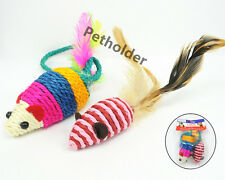 Wholesale Pet Cat Toy Sisal Feather Mice MouseToy A Set Of 48 pieces