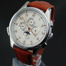 Parnis Stainless steel case 44mm Automatic mens watch(strap 7 color choose)528