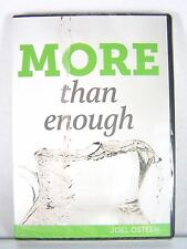 NEW!~MORE THAN ENOUGH~CD/DVD SERIES/SET~PASTOR JOEL OSTEEN CHRISTIAN MINISTRIES
