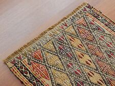 UNIQUE TURKISH JAJIM YASTIK AUTHENTIC FANTASTIC SMALL KILIM RUG 1.7x2.5 feet