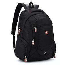 """Men Women Swiss Gear 15.6"""" Laptop Macbook Backpack Rucksack Outdoor School Bag"""