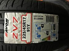 2 (a pair) x 2254517 225 45 17 225/45R17 91Y Avon ZV7 New Tyres Pair