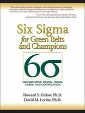 Six Sigma for Green Belts and Champions: Foundations, DMAIC, Tools, Cases, and C