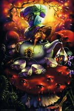 "Mad Hatter POSTER Alice In Wonderland Tea Party ""Down The Rabbit Hole"" BRAND NEW"