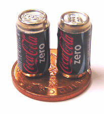 1:12 scala 2 vuoto COCA COLA COKE DRINK LATTINA DOLLS HOUSE miniatura PUB BAR ZERO