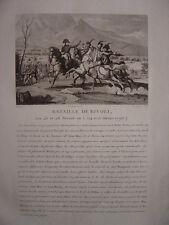 Gravure de NAPOLEON BONAPARTE à la bataille de RIVOLI  14 et 15 janvier 1796