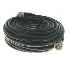 NEW 100 ft RG-8X coaxial coax UHF male PL-259 antenna cable 50 ohm *USA Seller*