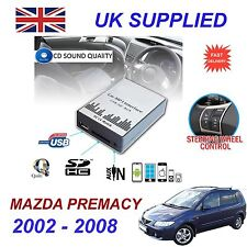 MAZDA PREMACY MP3 SD USB CD AUX Input Audio Adapter Digital CD Changer Module