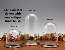 Glass Display Dome with Antique Brass Base, Collectables, Protection, #335-DB