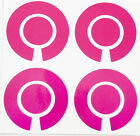 ACCLAIM Bowls Stickers Two Sets Of Four Complete Plain Vinyl Colour Pink