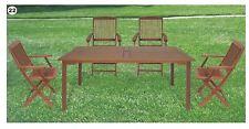 1 Tavolo in legno rettangola massello + 4 sedie chiusibile giardino casa Nuovo