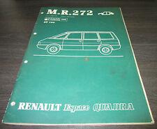 Werkstatthandbuch Karosserie Renault Espace I  Quadra Allrad 4x4 Stand Juli 1988