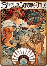 Lienzo Alphonse Alfons Mucha Art Nouveau Galletas Lefèvre-Utile Impresa imagen
