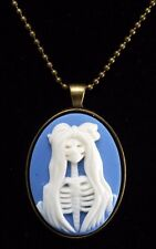 """LTV Creation """"Skeleton LAdy Torso"""" Necklace Metal Setting Beaded Chain Jewelry"""