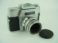 AGFA AgfaFlex V SLR Camera W/Agfa Color 50mm F/2.8 Solinar Lens - Works Great