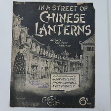 antique songsheet IN A STREET OF CHINESE LANTERNS oriental foxtrot , 1927