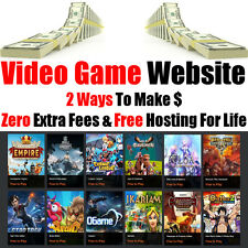 Video Game Website - Hosting For Life - Home Online Internet Business - For Sale