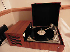 Vintage 60s RARE Philips GF-810 Record Player Turntable with AMPLIFIER teak wood