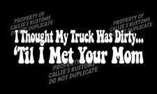 funny Dirty Truck Mom decal sticker Ford F150 F250 F350 Diesel 4x4 lifted