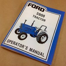 FORD 5900 TRACTOR OPERATORS OWNERS MANUAL MAINTENANCE OPERATION NEW PRINT ADJUST