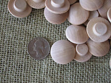"""LOT of 120 UNFINISHED WOOD CRAFTS 1"""" WOOD BUTTON SHAPES EYES, SNOWMAN FACE PINS"""