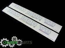99-01 DODGE RAM 1500 V8 SILVER DECAL EMBLEM NAMEPLATE BADGE SET/2 MOPAR GENUINE