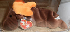 RARE Authenticated 2nd gen Ty Chocolate Beanie Baby 2 Hang / 1st Tush