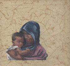 """""""SOUVENIR du MAROC"""" Maquette originale aquarelle sur papier GALLIER-WITZ 29x27cm"""