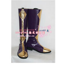 CODE GEASS Lelouch of the Rebellion Zero PU Cosplay Boots Shoes S008