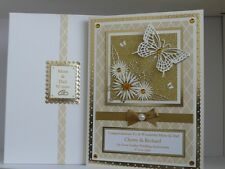Personalised Golden 50th Wedding Anniversary Card+Box Wife/Husband/Friends etc
