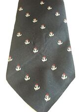 SAKS FIFTH AVENUE MENS TIE 59 X 4 NAVY BLUE WITH ANCHORS