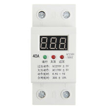 Automatic Reconnect Over Under Voltage Protection Relay Voltmeter Led Display