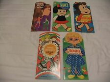 Lot of 5 Vintage Whitman Paper Dolls ~ UNCUT ~ca. 1960's & 1970's
