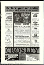 1928 CROSLEY Radio advertisement, Neutrodyne radio, Gembox etc