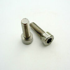 Stainless Steel Bottle Cage Mounting Bolts, 4mm Socket Head Fitting