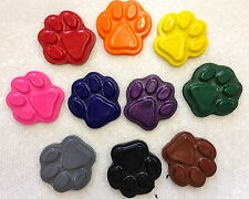 10 Rainbow Paw Print Crayons Party Favors Teacher Supply Puppy Dog Kitty