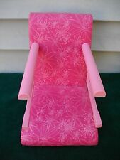 "18"" AMERICAN GIRL DOLL TREAT SEAT CAFE TRAVEL CHAIR PINK TABLE BOOSTER SEAT"