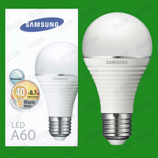 2x 6.7W Samsung Dimmable LED Ultra Low Energy GLS Light Bulbs, ES E27 Lamps