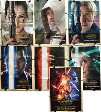Star Wars Force Awakens Posters Set 7 DVD Store Promo Movie Portraits Luke Han