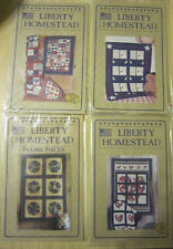 4 liberty Homestead Quilt Patterns Scrap Heart Sailboats Prairie Dresden Plate