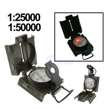 3in1 Military Army Hiking Camping Lens Lensatic Metal Compass LED Light Survival