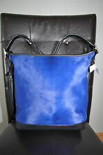 COACH Legacy Pinnacle Cobalt Blue Haircalf Fur Purse Handbag 19907 NWT $1,400