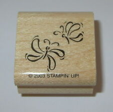 Butterflies Rubber Stamp Butterfly Stampin' Up! Spring Party New Insects Retired