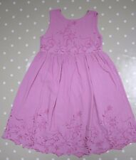 GHOST Girls Pink Broderie Dress - size L (5-7 years)