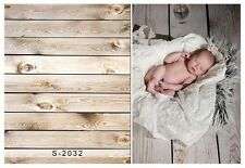 3x5ft Thin Vinyl Photography Background Wooden Wall Baby Backdrops Studio Props