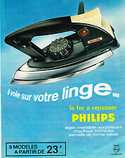 PUBLICITE ADVERTISING 114  1963  PHILIPS  fer à repasser maniable