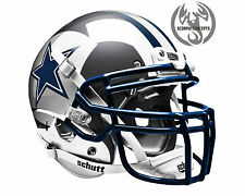 Dallas Cowboys Chrome Silver Concept Mini Helmet