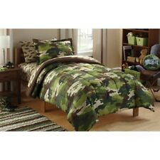 Camo Comforter Set Twin Size Bedding 5 Piece Green Sheets Kids Boys Camouflage