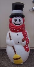 S snowman blow mold outdoor yard lawn christmas decor display plastic light up